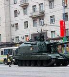 Rysk självgående vapenmontering MSTA Arkivbild