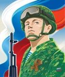 Rysk soldat Arkivfoto