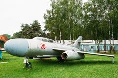 Rysk sovjetisk kämpe-bombplan som Su-7 in framkallas Fotografering för Bildbyråer