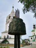 Rysk tempel av kyrkliga klockor, Ryssland Fotoet justeras Foto av konst Royaltyfria Bilder
