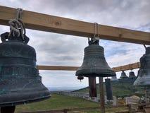 Rysk tempel av kyrkliga klockor, Ryssland Fotoet justeras Foto av konst Royaltyfri Bild