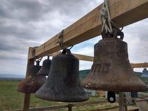 Rysk tempel av kyrkliga klockor, Ryssland Fotoet justeras Foto av konst Arkivbilder