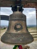 Rysk tempel av kyrkliga klockor, Ryssland Fotoet justeras Foto av konst Arkivbild