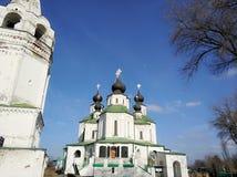 Rysk tempel av kyrkliga klockor, Ryssland Fotoet justeras Foto av konst Royaltyfri Fotografi