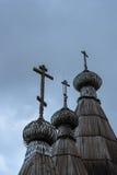 Rysk träarkitektur Arkivfoto