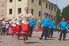 Rysk traditionell dans Arkivbild
