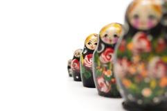 Rysk traditionell dockamatreshka Arkivbilder