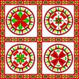 Rysk traditionell prydnad av den Severodvinsk regionen Arkivfoton