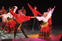 Rysk traditionell show Arkivbild