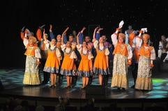 Rysk traditionell show Arkivbilder