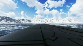 Rysk ubåt Borei för ballistisk missil Närbild vektor illustrationer