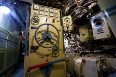 Rysk ubåtinre Arkivfoton