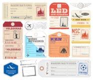 Ryska bagageetiketter för vektor royaltyfri illustrationer