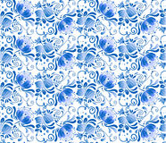 Ryska blom- medborgareblått mönstrar Royaltyfria Foton