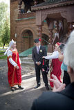 Ryska brölloptraditioner Arkivbilder