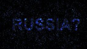 Ryska en hacker Fara i internet Ondsint koden hacker vektor illustrationer