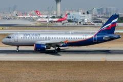 Ryska flygbolag för VP-BQP Aeroflot, flygbuss A320-214 Arkivbilder