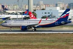 Ryska flygbolag för VQ-BSG Aeroflot, flygbuss A320-214 Royaltyfri Bild