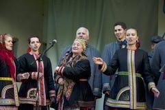 Ryska folk ansamble Lenok Royaltyfri Bild