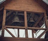 Ryska kyrkliga klockor Arkivfoto