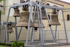 Ryska kyrkliga klockor Arkivfoton