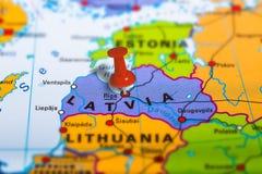 Ryska Latvia mapa obrazy stock