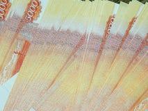Ryska pengar med ett nominellt värde av 5000 rubel Royaltyfria Foton