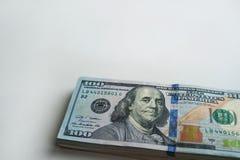 Ryska rubel och amerikanska dollar arkivbilder