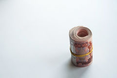 Ryska rubel och amerikanska dollar royaltyfria foton