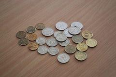 Ryska rubel och encentmynt royaltyfri illustrationer