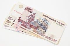 Ryska rubles Fotografering för Bildbyråer