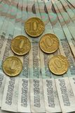 Ryska sedlar av 50 rubel Royaltyfria Foton