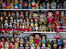 Ryska souvenir Arkivfoton