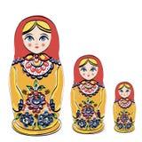 Ryska traditionsmatryoshkadockor. Royaltyfri Foto
