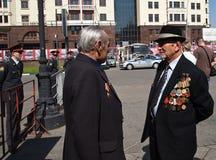 Ryska veteran Arkivfoton