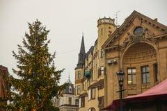 RYSKI, LATVIA: Latvian Radiowy budynek w Ryskim kopuły katedry kwadracie, historyczny Stary miasteczko, Vecriga europejczycy obraz stock