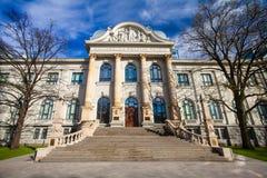 RYSKI, LATVIA, MAJ - 06, 2017: Widok na Latvian muzeum narodowym sztuka która lokalizuje w centrum miasta Ryski Fotografia Royalty Free