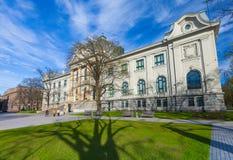 RYSKI, LATVIA, MAJ - 06, 2017: Widok na Latvian muzeum narodowym sztuka która lokalizuje w centrum miasta Ryski Zdjęcie Royalty Free