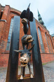 RYSKI, LATVIA, MAJ - 06, 2017: Widok na zabytku Bremen Grodzcy muzycy lokalizuje w Ryskim, Latvia Zdjęcie Royalty Free