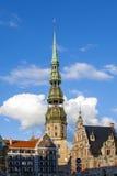 RYSKI, LATVIA, SIERPIEŃ - 28: Główny plac na Sierpień 28, 2014 wewnątrz Obraz Royalty Free