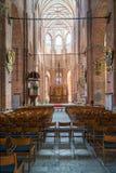 RYSKI, LATVIA, SIERPIEŃ - 8, 2017: Wnętrze St Peter ` s kościół wewnątrz Fotografia Stock