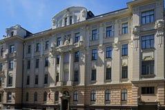 Ryski, Vilandes 1, dom w stylu dekoracyjnej sztuki Nouveau Obraz Stock