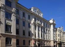 Ryski, Vilandes 1, dom w stylu dekoracyjnej sztuki Nouveau Zdjęcia Stock