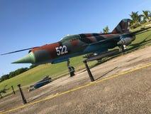 Ryskt flygplan MIG-21 Fotografering för Bildbyråer