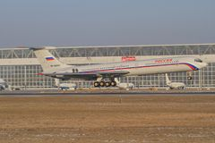 Ryskt flygvapen Il-62 Arkivbild