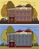 Ryskt hus i färg vektor illustrationer