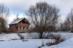 Ryskt landskap för vinter Suzdal arkivfoto