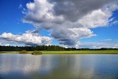 Ryskt landskap i sommartid Royaltyfria Bilder