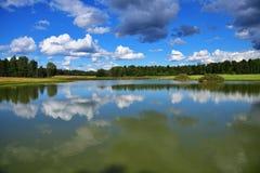 Ryskt landskap i sommartid Royaltyfri Bild
