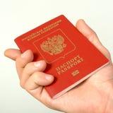 Ryskt pass för lopp utomlands. Royaltyfri Fotografi